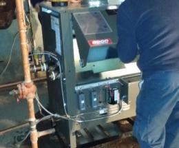 parsplumbing-Installation d'une nouvelle chaudière à eau chaude atmosphérique1