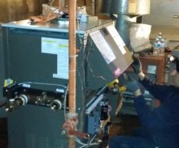 parsplumbing-Installation d'une nouvelle chaudière à eau chaude atmosphérique5
