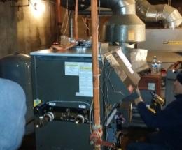 parsplumbing-Installation d'une nouvelle chaudière à eau chaude atmosphérique6
